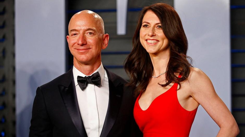 Jeff Bezos und MacKenzie Scott 2018 bei der Vanity Fair Oscar Party