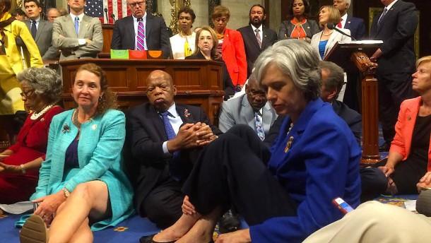 Pyjamaparty im Kongress