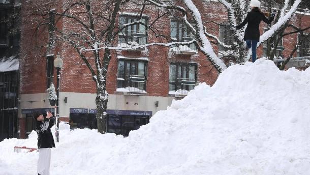 Winterzeit tief verschneit