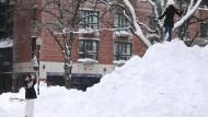 Schneeberge in Boston, Massachusetts