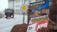 So warb die NPD in Büdingen 2016 zur Kommunalwahl um Stimmen.