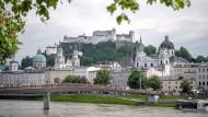 Blick auf die Innenstadt von Salzburg