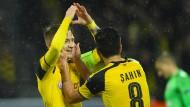 Ein Herz für die Liebsten: Marco Reus strahlt bei seiner Rückkehr auf den Fußballplatz