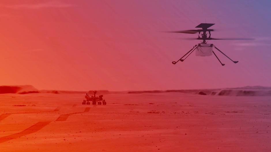Auf der Suche nach Spuren von Leben: Der Nasa-Rover Perseverance und der Helikopter Ingenuity auf dem Mars als Simulation