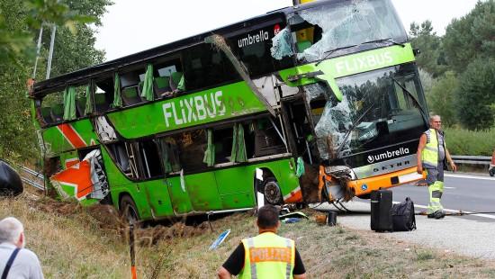 Flixbus umgekippt