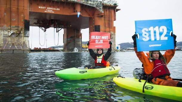 Norwegen darf weiterhin nach Öl bohren