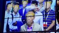 Gesichtserkennung auf einer Messe in Schenzhen, China