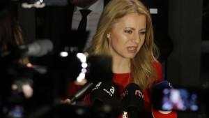 Caputova gewinnt erste Runde der Präsidentenwahl