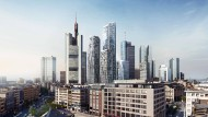 """Vier neue Türme: Das Projekt """"Four"""" soll auf dem früheren Deutsche-Bank-Areal verwirklicht werden"""