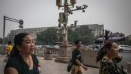 Kameraüberwachung in der Innenstadt von Peking
