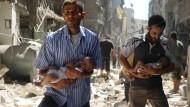 Viele Opfer vor Feuerpause in Syrien