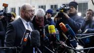 """SPD-Chef Martin Schulz sprach von einer """"sehr konzentrierten, zielgerichteten Beratung, die wir heute hatten""""."""