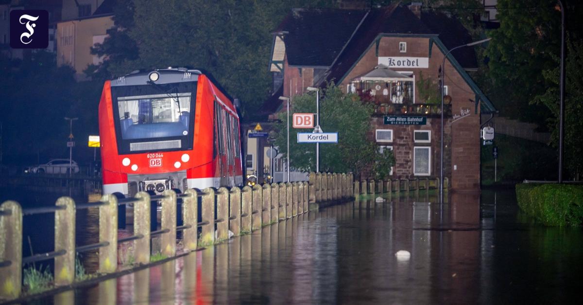 16.07.2021 - Bahn: Zugverkehr in Hochwasser-Regionen massiv eingeschränkt