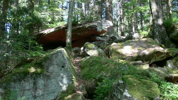 Ein Meer aus Felsen