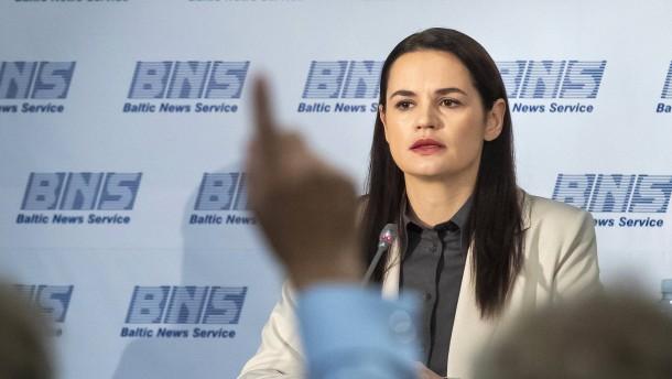 Tichanowskaja will nicht Präsidentin werden