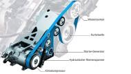 Bevorstehende Aufrüstung: Noch arbeiten alle Starter-Generatoren (hier in der Mercedes-B-Klasse) mit 12 Volt, doch die Spannung steigt künftig.