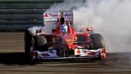 Viel Rauch um relativ wenig: Ferrari 2012