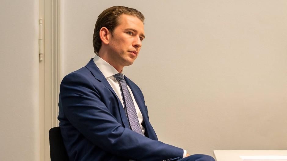 Sebastian Kurz in der Wiener ÖVP-Zentrale