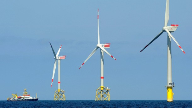 Der Windstrom kommt an Land