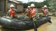 Dauerregen setzt Stadt unter Wasser