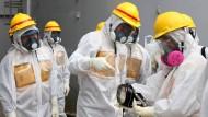 Radioktivität um einen Behälter mit kontaminierten Wasser ist 18-fach angestiegen