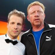 """Oliver Pocher (l.) und Boris Becker traten 2013 in der RTL-Unterhaltungsshow """"Alle auf den KIeinen"""" gegeneinander an."""