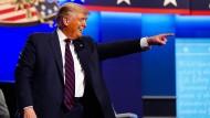 Donald Trump während des TV-Duells gegen Joe Biden