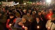 Eine Mahnwache gegen rechtsextreme Gewalt Ende November in Zwickau