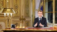 Spricht zur Nation: der französische Präsident Emmanuel Macron