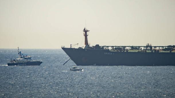 Öltanker in Gibraltar festgesetzt
