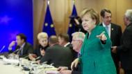 Da geht's lang: Kanzlerin Merkel in Brüssel