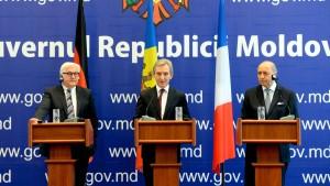 Steinmeier und Fabius sichern Moldau Unterstützung zu