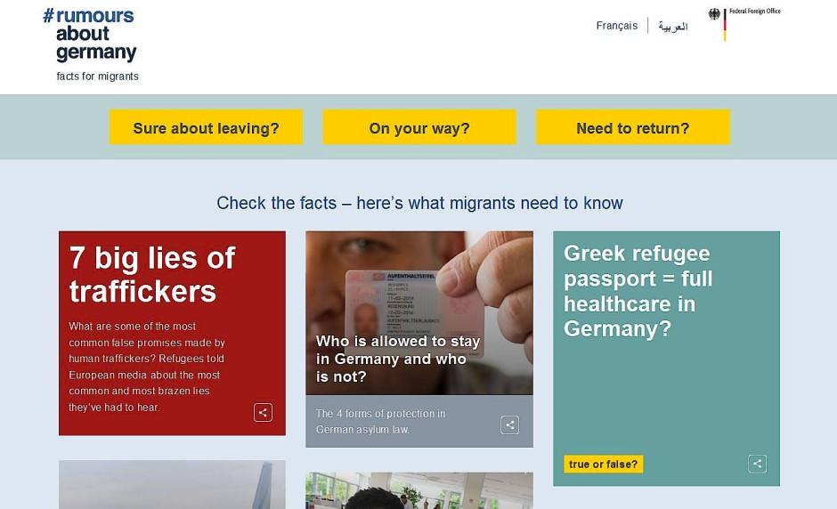 """Screenshot der Seite """"rumorsaboutgermany.info"""""""