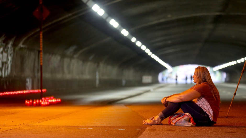 Nichts ist vergessen: An der Unglücksstelle in Duisburg