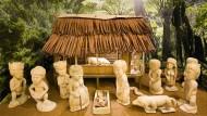 Eine in Papua-Neuguinea gefertigte Krippe ist neu in der Sammlung des Krippenmuseums Glattbach.