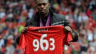 Mann für die Außenbahn: Manchester-United-Fan Usain Bolt