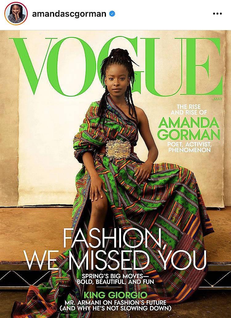 Amanda Gorman auf dem Cover der Vogue