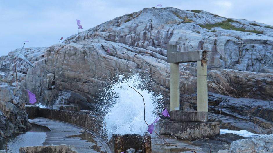 Was aussieht wie das Relikt eines griechischen Tempels, ist der Überrest eines Wasserwerks.
