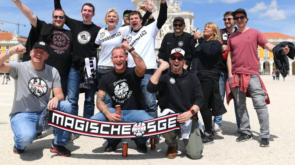 Eintracht-Fans in Stimmung