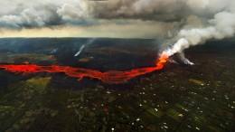 Lava-Strom hört nicht auf