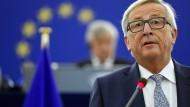Große Pläne: EU-Kommissionspräsident Jean-Claude Juncker am Mittwoch im EU-Parlament in Straßburg