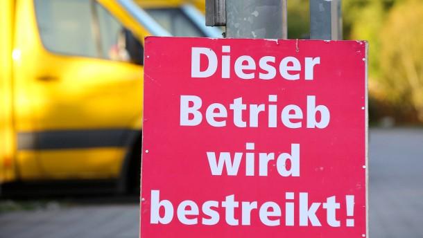 Abermals Warnstreiks bei der Post in Hessen