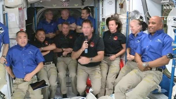 Gedrängel auf der ISS