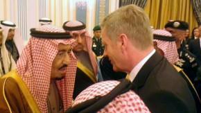 Das nächste Mal reicht es bestimmt auch für ein schönes Foto: der frühere Bundespräsident Christian Wulff und der neue saudische König Salman
