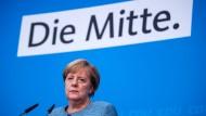 Bundeskanzlerin Angela Merkel (hier am Sonntag in Berlin) sorgt sich um den Status ihrer Partei.