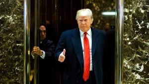 Donald allein in New York