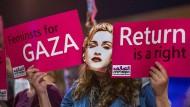 Protest von BDS-Aktivisten gegen den Auftritt von Madonna beim Eurovision 2019 in Tel Aviv