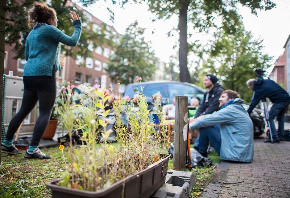 Studentisches Leben: Parkflächen werden beim Parkin Day in Münster umgestaltet.