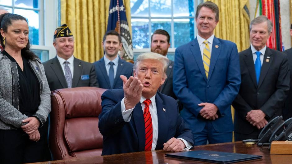 Nicht willens, sich zu mäßigen: Der amerikanische Präsident Donald Trump