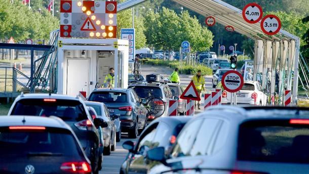 An der Grenze zu Dänemark staut es sich schon